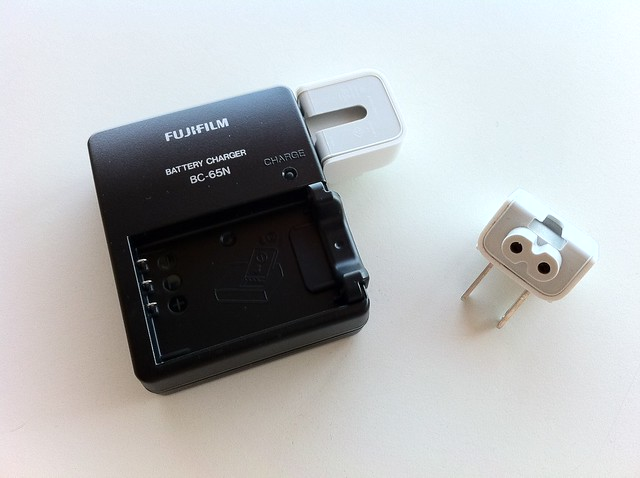Fujifilm FinePix X100 Battery Charger Portability Hack