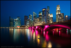 City Lights (Danskie.Dijamco.Photography) Tags: longexposure nightphotography bridge blue sky seascape reflection marina buildings landscape nikon singapore exposure central bluesky citylights nd lighttrails bluehour sg lightpost underthebridge waterreflection singaporeans marinabay nikonshooter nightphotographer twilighthour centralsingapore colorfulbridge nikond700 danskie danskiedijamco danilodijamco nikon1635mmf4gifvrii danskiedijamcophotography allpicturesinmyphotostreamare2011danilodijamco centralbusinessdisrict danilodijamcophotography