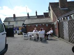 The Morris dancers relax P1460886 (tomylees) Tags: street church rose pub village dancers bearman crown morris essex fayre bocking