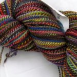 Handspun Rainbow with Black Semi-custom