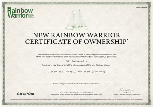 RainbowWarriorCertificate