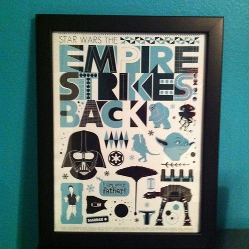Project 365 140/365: Got my Star Wars-The Empire Strikes Back print framed for our master bedroom. Gotta love @etsy