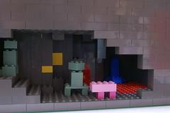 BigTrestle02 (SavaTheAggie) Tags: bridge lego ravine cave span minecraft