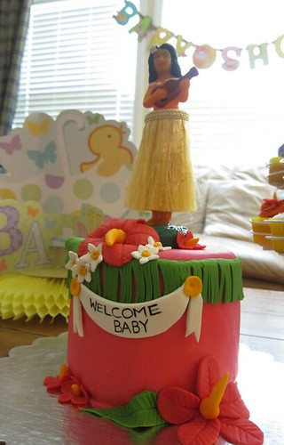 Luau shower by Little Sweeties Cupcakes