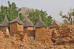 Dogon Architecture (**El-Len**) Tags: africa roof tree architecture god religion belief clay ama westafrica mali alter dogon sacrifice baobab granary fav10 koundou tatched