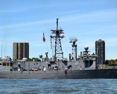 Frigate USS CARR (FFG 52), Hudson River, New York City (jag9889) Tags: nyc ny newyork carr ship manhattan military sailors vessel kayaking week hudsonriver missile fleet frigate uss paradeofships 2011 ffg52 y2011 jag9889 2011fleetweek