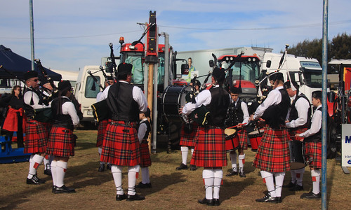 Bagpipes and farm machinery