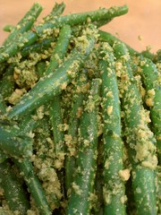 green beans with parsley almond pesto (epic_stl) Tags: beans vegetarian pesto parve