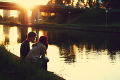 (Noukka Signe) Tags: boy sunset sun love nature water girl project golden couple daniel explore together enjoy hour 365 signe explored noukka