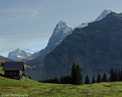 Alpine Shack (stage left) (davidwlitton (BUSY working on NEW website)) Tags: mountain mountains alps canon switzerland hut alpine bern shack dslr alp 1022mm bernese 30d gimmelwald mountainrange oberland murren
