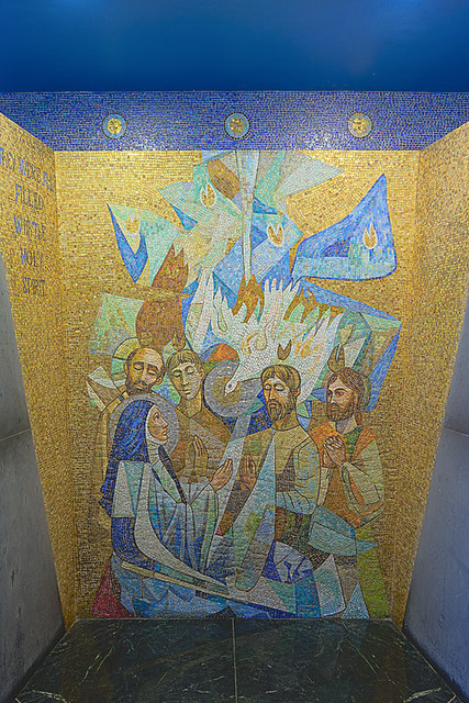 Shrine of Our Lady of the Snows, in Belleville, Illinois, USA - mosaic of Pentecost