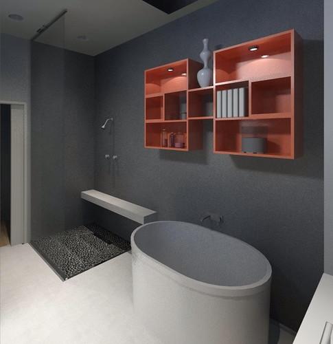 Concrete Zen Master Bath
