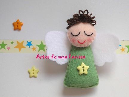 Anjinho Verde by Artes de uma Larissa