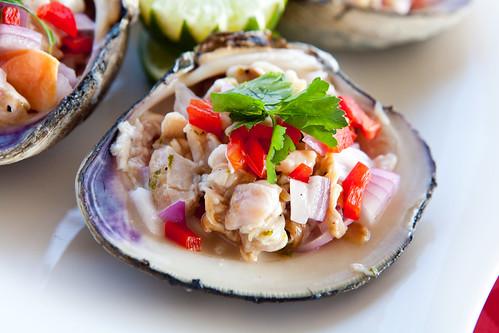 Cherrystone clam ceviche
