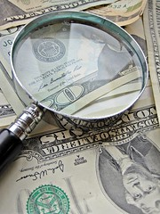 Magnify Glass and Money