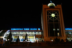 Astana Train Station (mattjfleet) Tags: astana train kazakhstan centralasia travel olympus