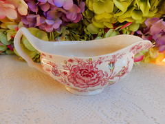 Johnson Brothers Gravy Sauce Boat ~ Rose Chintz ~ Pink (Donna's Collectables) Tags: johnson brothers gravy sauce boat ~ rose chintz pink