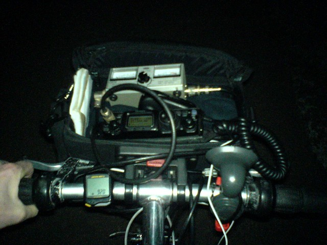 Bicycle mobile - FT-817 in bar bag