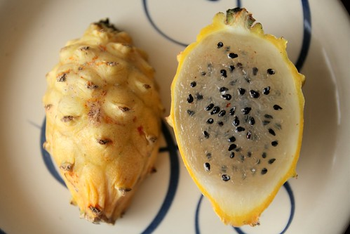 Pitahaya, or Golden Dragon Fruit.