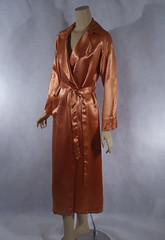 Vintage 1940s Beautiful Peach Satin Wrap Dressing Gown B40 Sz L (moore224) Tags: vintage robe peach dressing gown satin