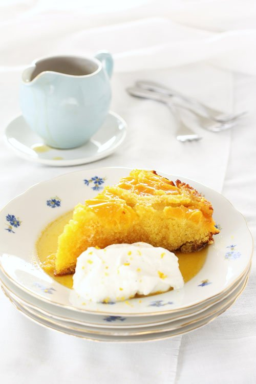 Oranges polenta cake