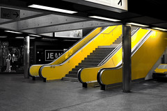 yellow escalators @ Gare de Cornavin . Genve (Toni_V) Tags: leica station yellow architecture 35mm schweiz switzerland suisse geneva gare bahnhof rangefinder sbb gelb escalators genve m9 genf 2011 summiluxm rolltreppen garedecornavin f14asph 110326 toniv leicam9 mygearandme flickrtravelaward l1001127