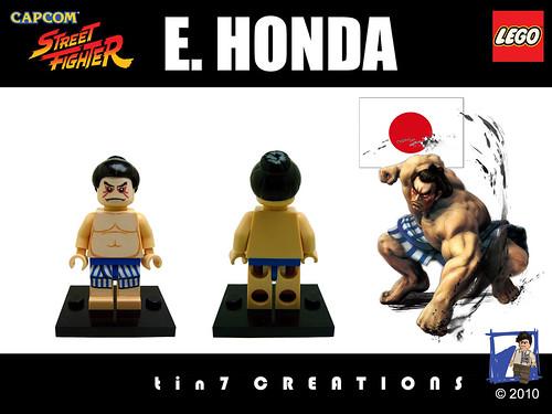 Custom minifig #03 - E. Honda