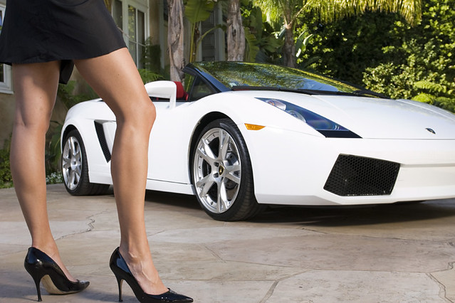 Lamborghini Gallardo with Woman's Legs