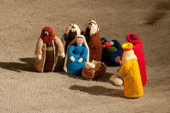 Knitted nativity (swanageurc) Tags: christmas candlelight christmaseve swanage nativity urc