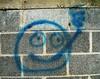 Mr. Cool Smoke (BACKYard Woods Explorer) Tags: face graffiti smoking smileyface abandonedbuildings graffitiface casinosupplywarehouse bloggedontuppy