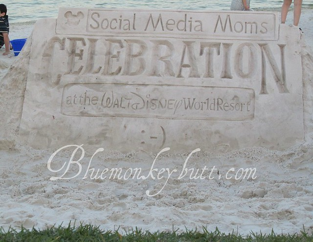 Disney Social Media Moms Sand Sculpture