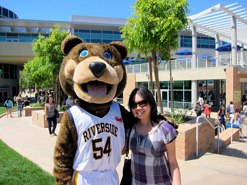 Daynah w/ UCR's Scotty the Bear