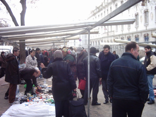 Street market, Belleville, Paris, France