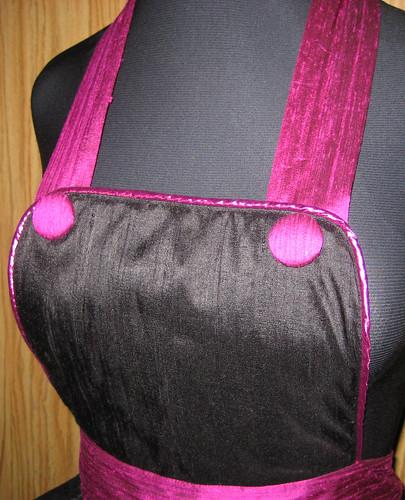 silk apron bib