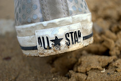 (FuscusOculi) Tags: white mountains west macro love girl up walking outside outdoors photography star virginia sand women shoes all child close mud hill ground dirty polka charleston dirt wv converse teenager growing dots chucks teenage mudding