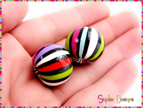 Stripy beads