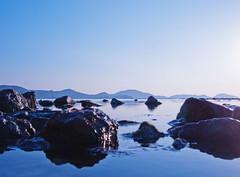 Koktebel morning (mr. Wood) Tags: blue sea sky water rocks bokeh ukraine crimea ep2 koktebel