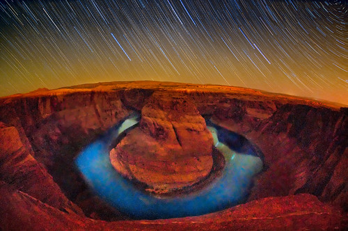 Horseshoe Bend in the Dark of the Moon