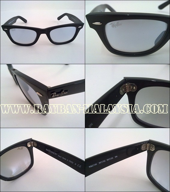 wayfarer black shinning mirror