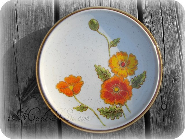 mikasa california poppies natural beauty pattern