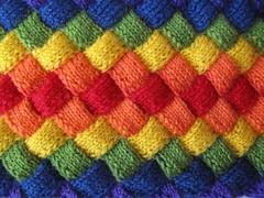 rainbow entrelac (difsus) Tags: scarf rainbow knitting handmade knitted entrelac