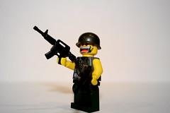trigger happy soldier (orfentage) Tags: black lego vietnam ops brickarms