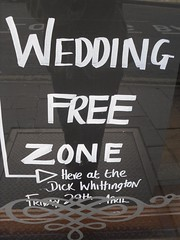 Wedding free zone