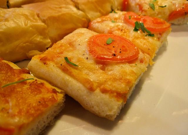 Margharita pizza and Ricotta Phyllo Paglia