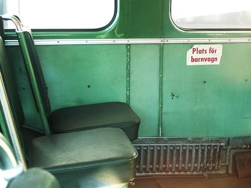 Gammal buss-interiör