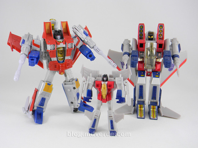 Transformers Starscream Reveal the Shield Legends - modo robot vs Classics vs G1