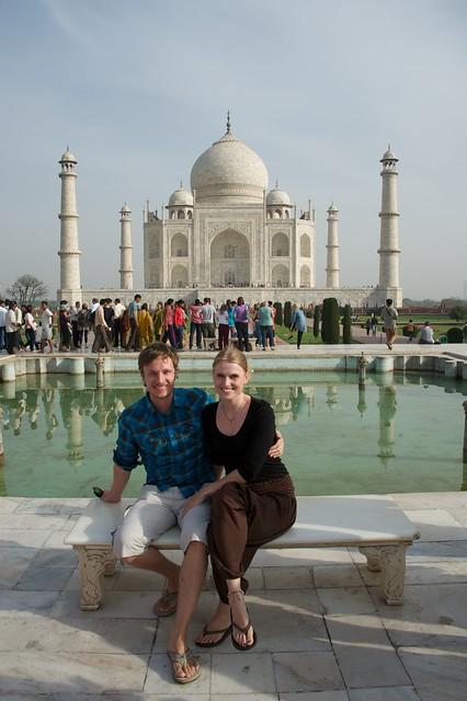Hjá Taj Mahal