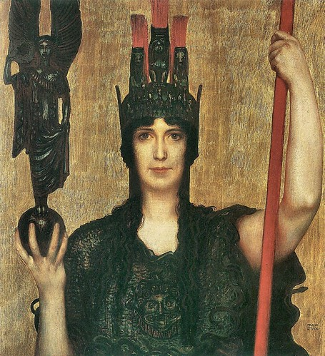 Pallas Athene by Franz von Stuck