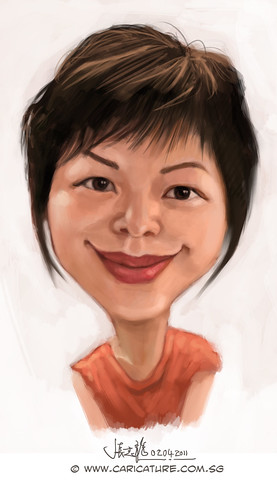 digital caricature sketch of Liu Chia Hui - final
