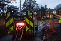 Fire at Cane Hill Asylum's admin block (LiamCH) Tags: england architecture hospital fire victorian surrey nhs fireman firemen emergency asylum healthcare firefighters arson admin firebrigade coulsdon canehill gupr